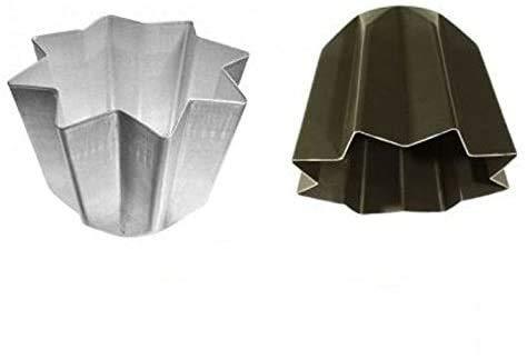 Vespa 2 PZ Forma PANDORO da 1KG 23XH17 Alluminio 100% Prodotto Italiano + Forma Antiaderente da 800 GR Marca Natale