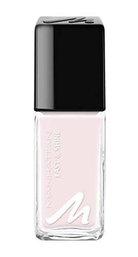 Manhattan Last & Shine Nagellack, Hellrosa, glänzender Nail Polish für 10 Tage idealen Halt, Farbe Fit For A Princess 215, 1 x 10ml