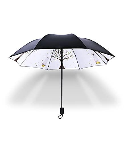 E/A Paraguas A Prueba De Viento Paraguas, Ligero, Automático, Robusto Y Portátil, A Prueba De Viento, Pequeña Mochila Plegable Paraguas-Negro