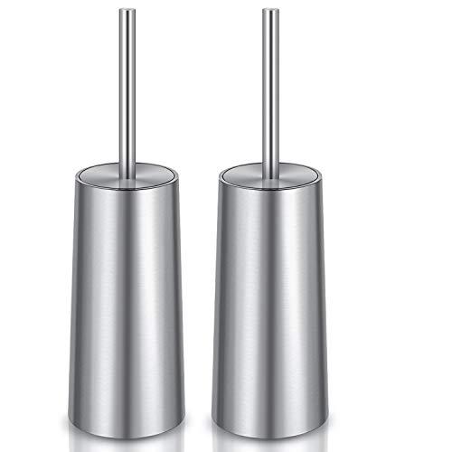 WITAIR Toilet Brush and Holder, 2 Pack Toilet Brush 304 Stainless Steel, Toilet Bowl Brush for Bathroom Toilet-Ergonomic, Elegant,Durable
