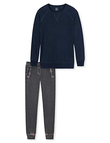 Schiesser Mädchen Anzug lang' Zweiteiliger Schlafanzug, Blau (Blau 804), 152