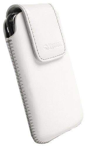 Krusell Vinga Leder Etui Tasche mit Rückzugsfunktion für Sony Ericsson Xperia neo weiß