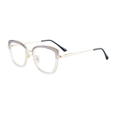 Qier Gafas Bloqueo Luz Azul,Gafas De Ordenador Anti Rayos Azules, Filtro De Lectura para Juegos, Gafas De Montura Ligera Tr90 Fashion Mujer, Gris