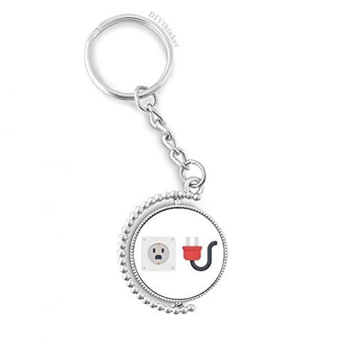 DIYthinker Steckdose Schaltplan Muster Drehbare Schlüsselanhänger Ringe 1.2 Zoll x 3.5 Zoll Mehrfarbig