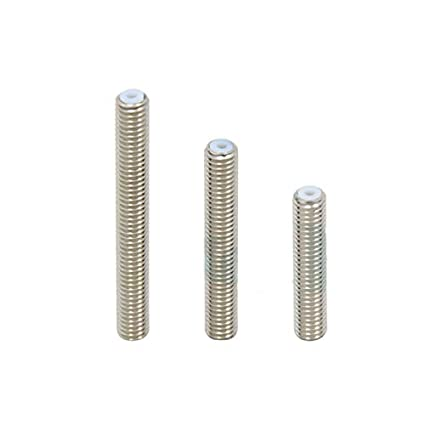 M6 x 30//40//50 mm Filamento de garganta Hals Edelstahl Tubo Hals Rohr Extrusor de tefl/ón para 3D Drucker Kopf extrusor de 1,75 mm D/üse