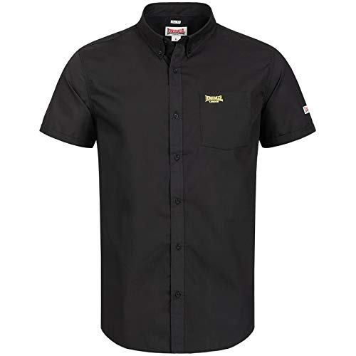 Lonsdale London - Camiseta de Manga Corta para Hombre, Hombre, 110626, Negro/Amarillo, 4XL
