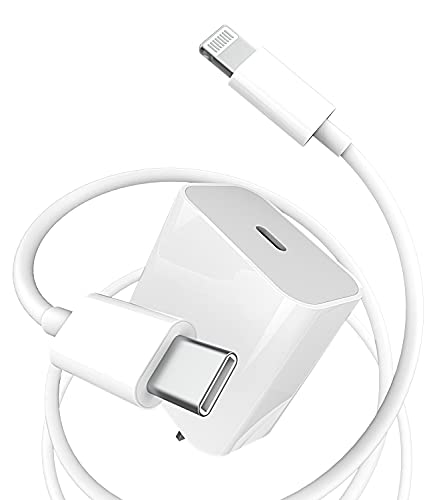 USB C Fast PD Wall Charger Block 5ft for Lightning Cable 20W Power Charging Adapter Quick Box Compatible with Ipad ARI for iPhone 11 12 PRO MAX Mini XS XR X 8 Plus for Airpod Type Plug Cord for Apple