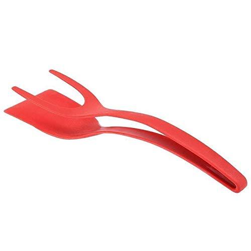 S-L Pinzas Cocina Dispositivo de torneado de Huevo Pinzas de cocción Utensilios de Cocina Espátula Cocina Multifuncional No Palo de Pan y Gadgets de Huevo (Color : Red)