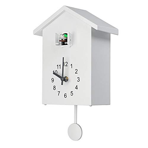 Mogzank Reloj de Pared de Cuarzo de Cuco PáJaro Moderno, Reloj de Pared para Sala de Estar, Temporizador de Oficina, DecoracióN del Hogar, Regalos, Reloj Colgante A
