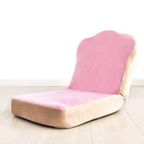 AXJa Klappstuhl Faule Kleines Sofa Balkon Fensterrückenlehne Stuhl Personality Kreative Tatami einfaches kleines Sofa,Rosa