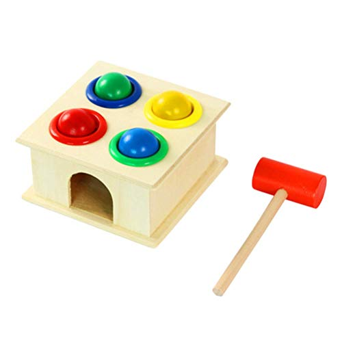 Iwinna Wooden Hamster Game Toy Hammering Ball Hammer Box Children Early Learning Toy ✅