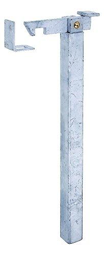 GAH-Alberts 412838 Torfeststeller, höhenverstellbar, zum Einbetonieren, feuerverzinkt, Höhe: 300 mm