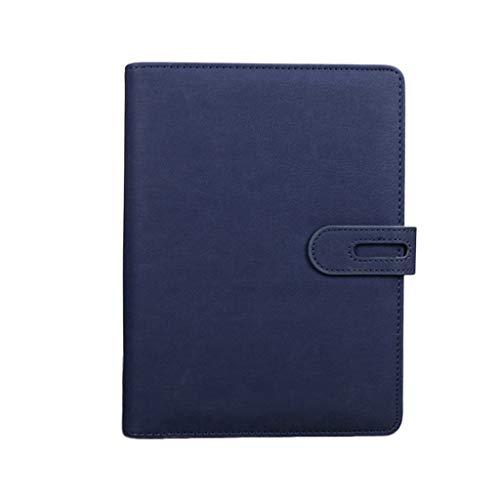 Cuadernos de taquigrafía Cuaderno A5 Multifunción Hebilla magnética Hojas Sueltas Cuaderno de Negocios Cuaderno de Oficina Reunión Libro de Registro 100 Hojas Oficina y papelería