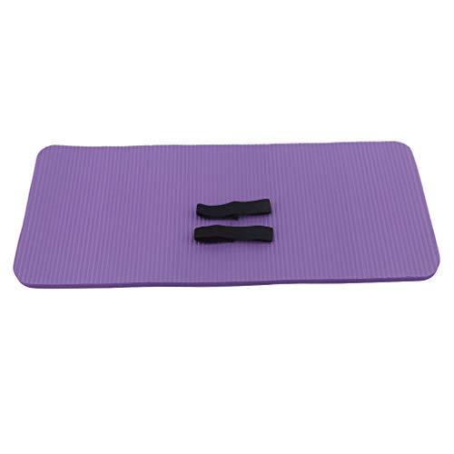 ZNMUCgs Esterilla de yoga gruesa antideslizante para ejercicios con correa de transporte, color morado