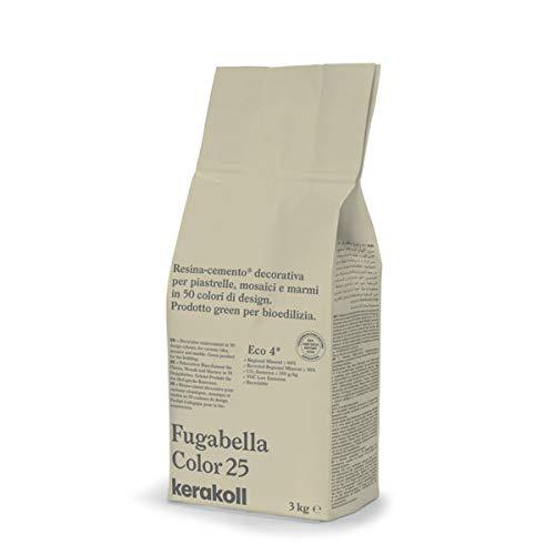 KERAKOLL FUGABELLA COLOR - 25 Sacco da 3 kg di stucco resina cemento decorativa per fughe