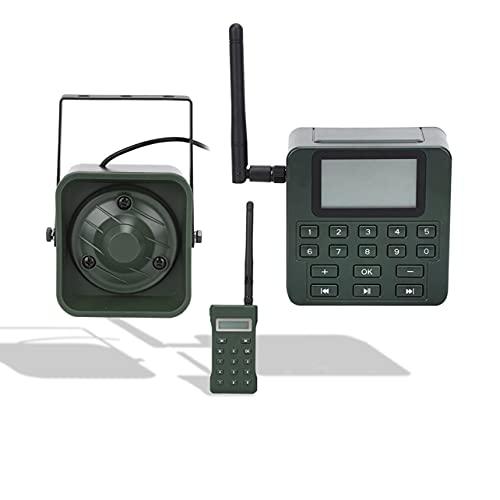 Appel d'oiseaux de corne d'extérieur 100 W, outil de chasse de haut-parleurs de lecteur de sons avec télécommande, haut-parleur de sons d'oiseaux d'affichage LCD de grande taille de 2,5 pouces (vert)