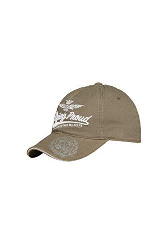 Aeronautica Militare Cappello da Baseball HA1042, Verde Militare, Cappellino, Cuffia