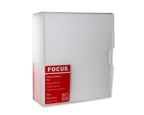 DSstyles Fuji Sofortbild Mini Buch PVC Fotoalbum Album Fotohülle für Kompatibel mit Fujifilm Instax Mini 210/ 200 Filme, Polaroid 600/ PX70/ PX 680/ PX 600/ PX100, Kompatibel mit Fujifilm Instax FP100C/ FP 3000B Filme - Fokus