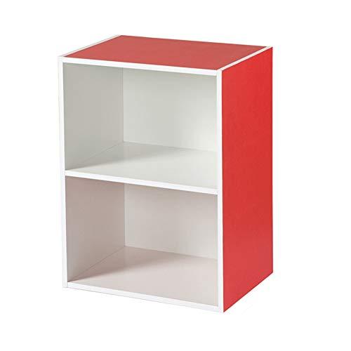Wpj 40 cm di Larghezza Libreria Bookshelf Semplice Legno Locker Combinazione Libera Lattice Gabinetto Governo di immagazzinaggio Semplice Camera da Letto Comodino 40 * 29 * 54 Centimetri