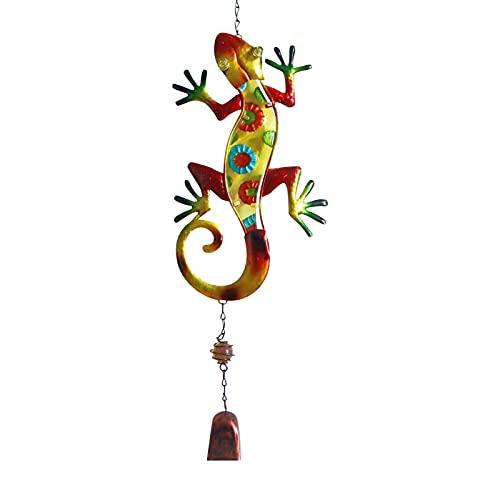 primrosely Windspiele für draußen Garten Metall Windspiele Gecko Bells Wandbehang Garten Ornamente Outdoor Gartendekoration Windspiele für den Garten Balkon draußen hängend Metall