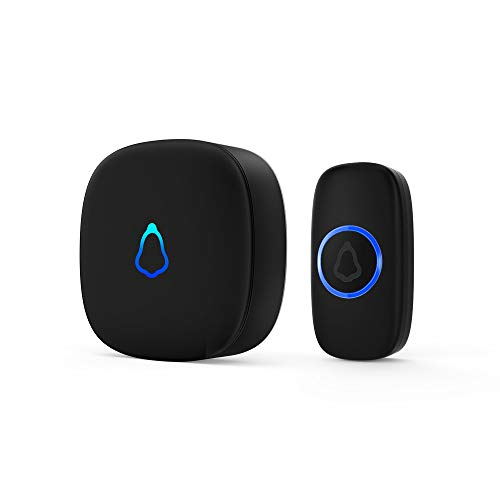 Doorbell, Waterproof Mini Wireless Doorbell 1,000ft Range Loud Enough with 4 Volume Levels and Mute...