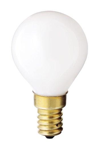 Satco S3398 130V E14 Euro Base 40-Watt G14 Light Bulb, Gloss White