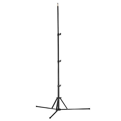 Walimex Pro GN-806 Lampenstativ (maximal Arbeitshöhe 215cm, Belastbarkeit: 5 kg, Gewindeanschluss mit 1/4 und 3/8 Zoll) schwarz