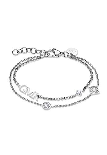 Guido Maria Kretschmer by CHRIST GMK Collection Damen-Armband Edelstahl 20 Zirkonia One Size Silber 32011639