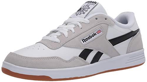 Reebok Men's Club MEMT Sneaker, White/Steel/Black, 9.5