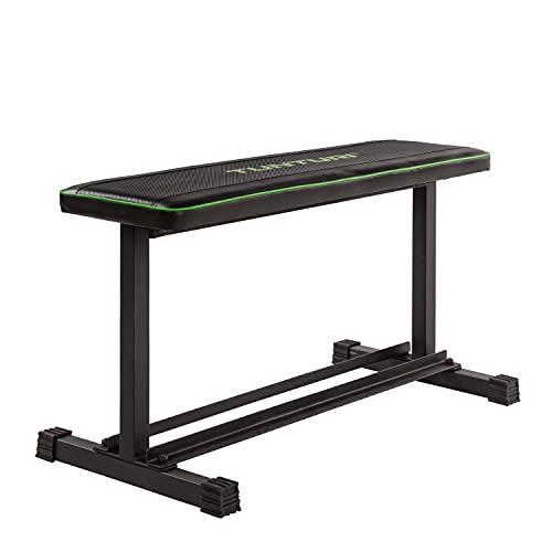 Tunturi Flat Bench Banco Plano FB20, Unisex Adulto, Negro, 1