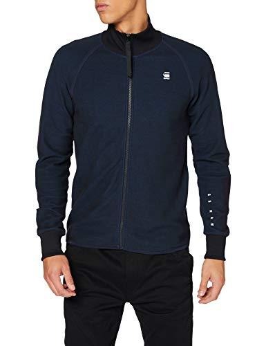 G-STAR RAW Mens Jirgi Zip Tape Detail Funnel T-Shirt, Mazarine Blue/Cricket Blue 8633-B907, Large