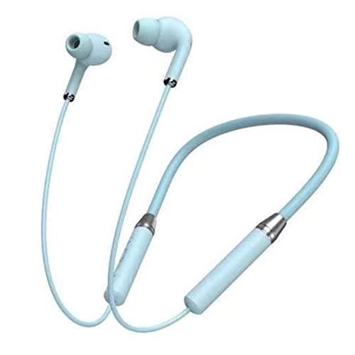 Gobutevphver Auriculares Yb-1 Halter Auriculares Deportivos Pantalla de batería Función de Llamada Función NFC Control de Voz Auriculares portátiles con Cabestro - Azul