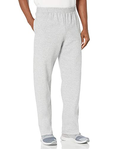 Fruit of the Loom - Pantalones de Forro Polar para Hombre, Gris Claro, Medium