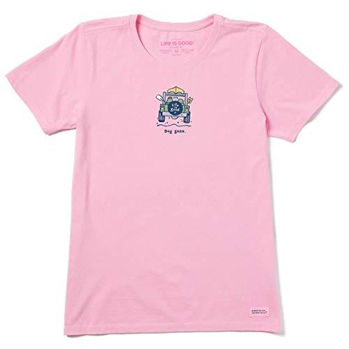 Life Is Good T-Shirt Vintage pour Femme Rocket Dog Gone Vintage Crusher Rocket Dog Graphic T-Shirt L Dog Gone Happy Pink
