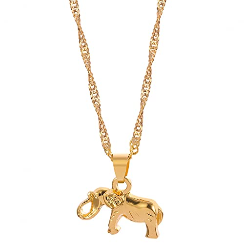 SOTUVO Collar de Elefante Mini Collar de Cadena de Elefante Collar de joyería de galvanoplastia de Metal