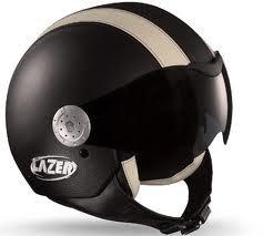 Lazer Motorradhelm Rider Dragon Leder schwarz Größe S