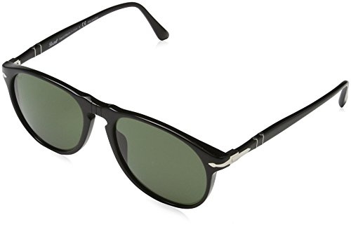 Persol Sunglasses Black/Green Acetate - Polarized - 55mm