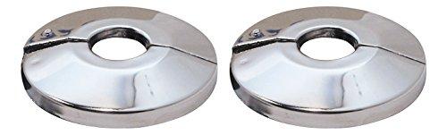 Sanitop-Wingenroth 19278 1 Scharnierrosette | 28 mm oder 3/4 Zoll | Außendurchmesser 66 mm | 2-er Set | Rosette | Metall | Verchromt, Stück
