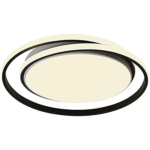 ZHANGL Lámpara De Techo De Hierro Forjado Moderna Y Simple LED Flush Panel Plano Ultrafino Luz Lámpara De Iluminación De Atenuación De Tres Colores Pantalla De Acrílico, Lámparas Decorativas Para Come