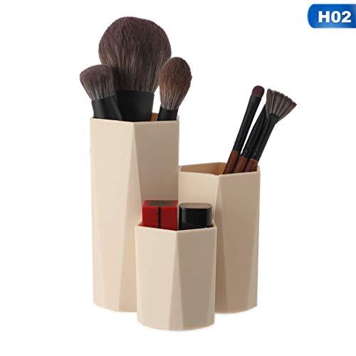 dyudyrujdtry Unexceptionable Ongle Vernis Produits Cosmétiques Boîte Stylo Support 3 Treillis Maquillage Brosse Rangement Étui Maquillage Organiseur Boîte - Kaki