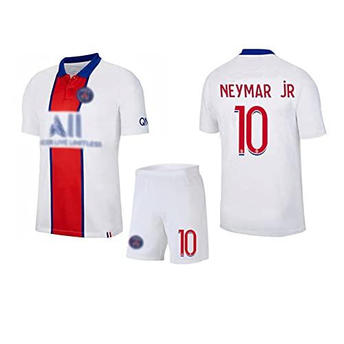 Página de inicio #10 Home & Away Camisetas de fútbol para hombre y niños, camisetas de fútbol #10 # 10 camiseta de fútbol+pantalones cortos para adulto, malla transpirable bordado blanco-XXL