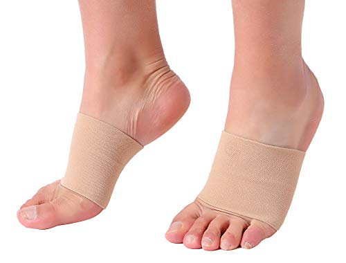 Doc Miller Premium Arch Compression Sleeves 1 Pair Perfect Option to Our Plantar Fasciitis Socks - for Plantar Fasciitis Pain Relief and Treatment for Everyday Use with Arch Support