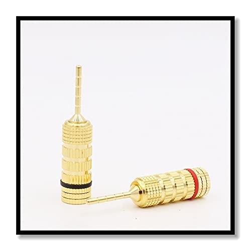 YFJLOVE YUFENGJIAO Conector de Alambre de Cable 4pcs Conector de Enchufe de Cable de Cable de Oro para Adaptador de Pin