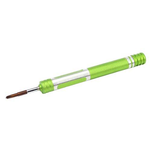 Destornillador de precisión cruz hueca 2,5 x 25 mm destornillador multiusos de acero resistente y duradero con mango giratorio para reparaciones de electrónica, smartphone, PC, tablet, relojes, gafas
