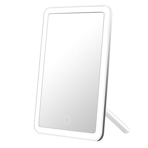 LE Espejo Maquillaje con luz USB Recargable, Brillo Regulable, LED Espejo de Maquillaje y Afeitado, Cable USB incluido
