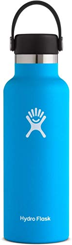 Hydro Flask Standard Mouth Water Bottle, Flex Cap - 18 oz, Pacific
