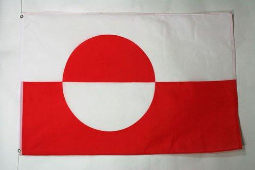 AZ FLAG Flagge GRÖNLAND 90x60cm - GRÖNLÄNDISCHE Fahne 60 x 90 cm - flaggen Top Qualität