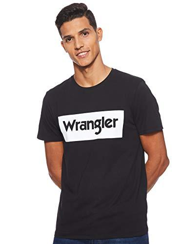 Wrangler Logo tee Camiseta, Negro (Black 100), Large para Hombre