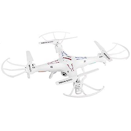 Syma X5C-1 Drone Quadcopter de 6 Ejes con Cámara HD de Alta definición y Control Remoto 2.4G 4CH RTF 2G TF Tarjeta, Color White