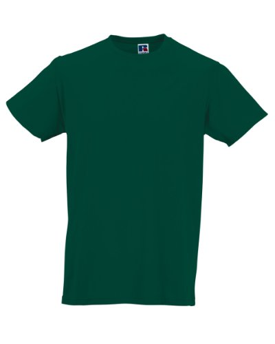 Russell Athletic - T-Shirt - Homme Blanc Blanc - Vert - Small